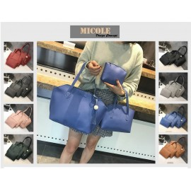 image of Ready Stock >> MICOLE 3 IN 1 Shoulder Bag Handbag Women Sling Bag Beg BS3018