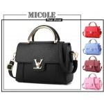 READY STOCK >> MICOLE PU Leather Handbag Women Shoulder Bag Sling Bag ST1025