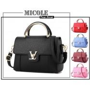 image of READY STOCK >> MICOLE PU Leather Handbag Women Shoulder Bag Sling Bag ST1025