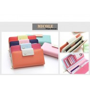 image of Ready Stock >> MICOLE Bird Logo Premium Long Wallet Women Purse WF4005