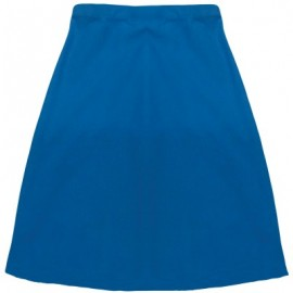 image of Matari Classic SKT422 Secondary School Half Skirt - Blue