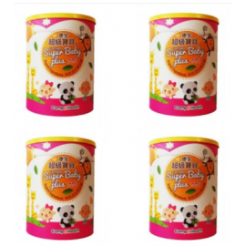 image of CompoHealth Organic Super Baby Plus Cereal 康宝超级宝贝 700g X 4 ( PACK OF 4 TINS)