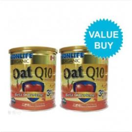 image of BONLIFE ORGANIC OAT Q10 – BETA CAROTENE 500G X 2 TINS (TWIN PACK PROMOTION)