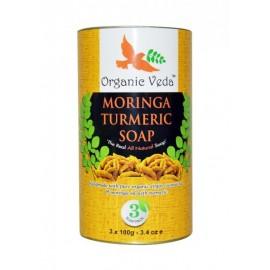 image of Organic Moringa Turmeric Soap Handmade The Real All Natural Soap (3 Packs)