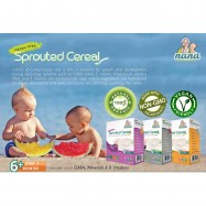 image of NANA Sprouted Cereal Organic Sprouted Brown Rice ( 15g x 10 packets X 2) EXPIRED 2018 DEC