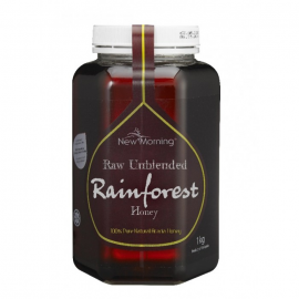 image of New Morning Raw Unblended Rainforest Honey 1kg