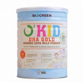 image of BIOGREEN O'Soy DHA Gold Organic Soya Milk Powder 有机去皮豆奶 800G(Halal)