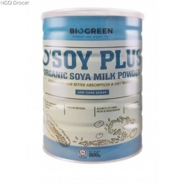 image of BIOGREEN - O'Soy Plus Organic Low Sugar Soya Milk Powder (HALAL)