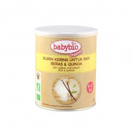 image of Babybio Dry Cereal for Infant (Rice & Quinoa)220g*New packing of Organic First Flavor Cereal *