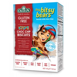 image of Itsy Bitsy Bears Choc Chip Cookies 175g