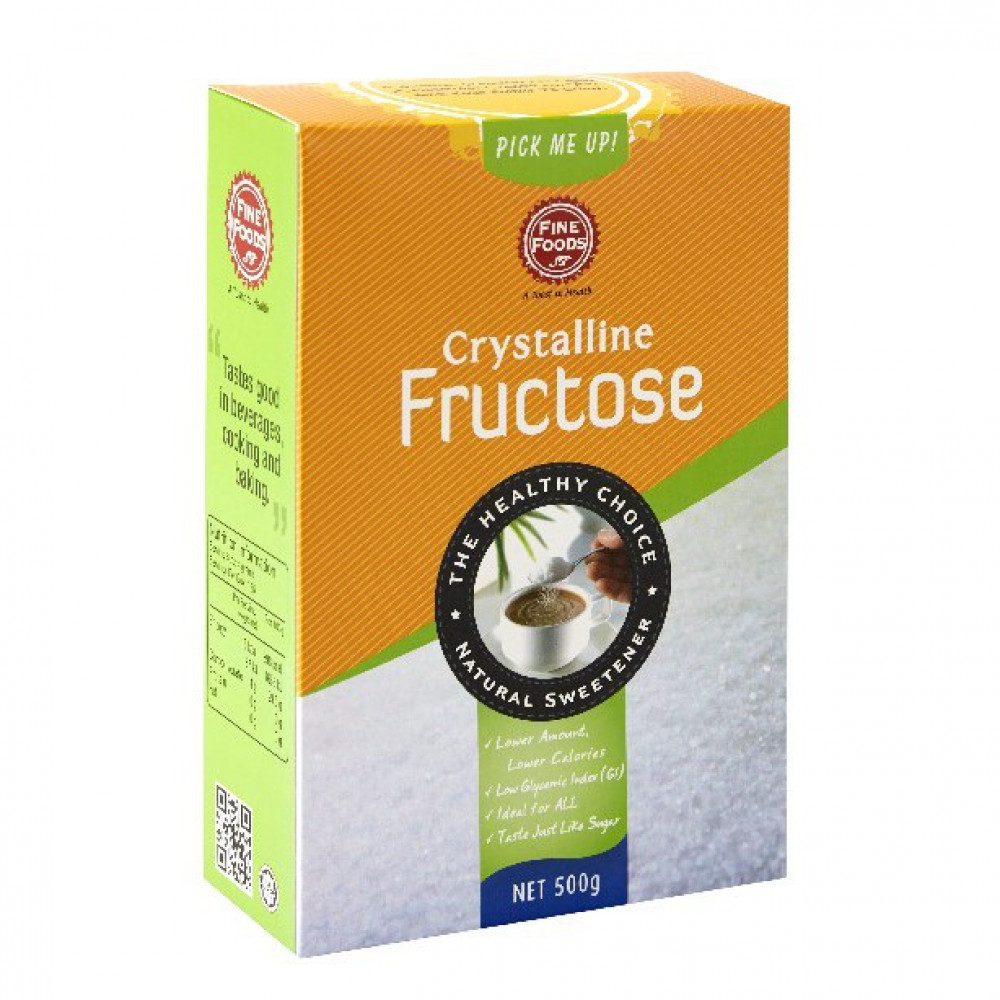 Fine Foods Crystalline Fructose Single pack (500g) or (4g x 50 sachets)