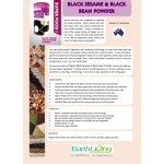 EARTH LIVING Black sesame & black bean powder 黑芝麻黑豆粉 500G ( EXP 01JAN2020)