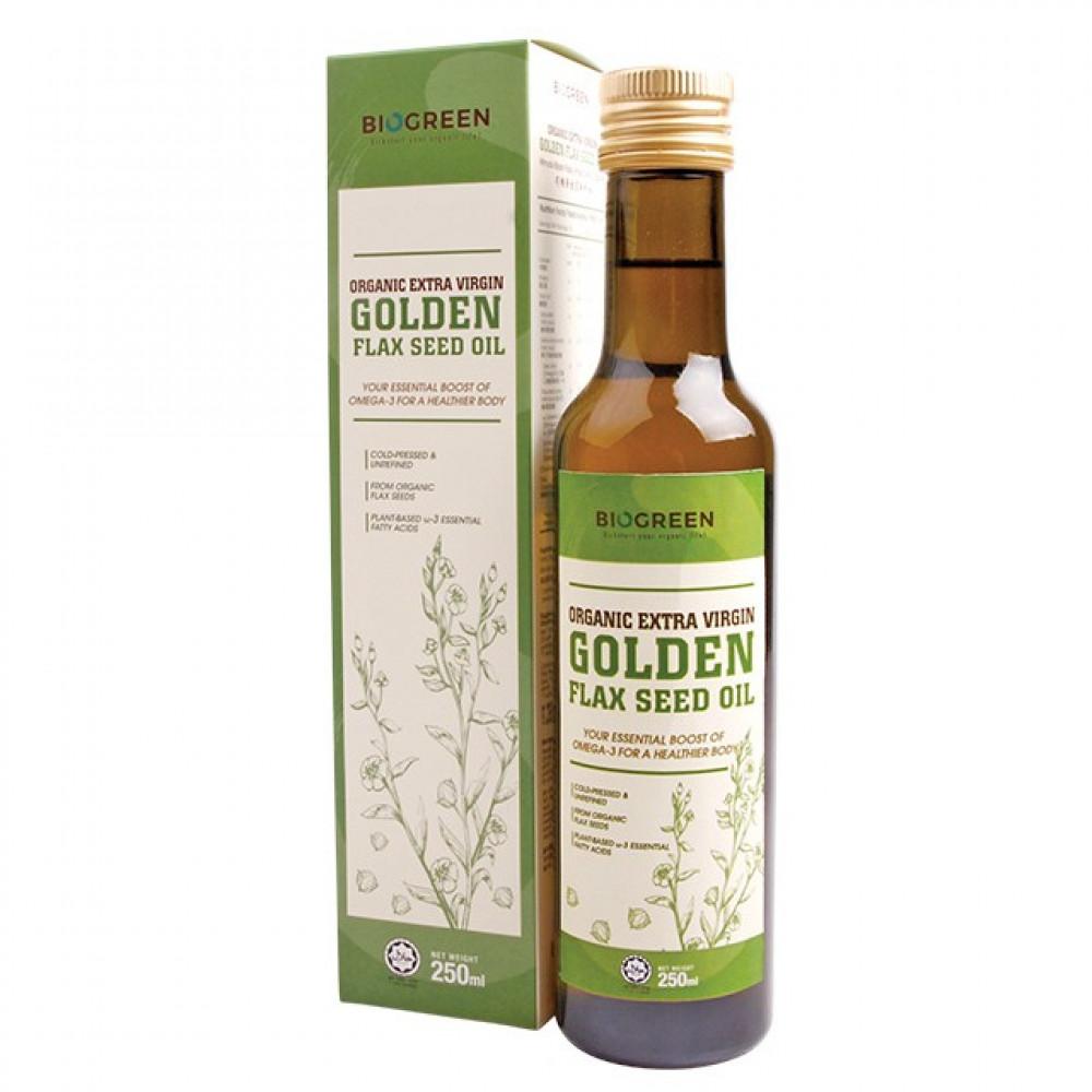 Biogreen Organic Extra Virgin Golden Flaxseed Oil (HALAL) 250ML