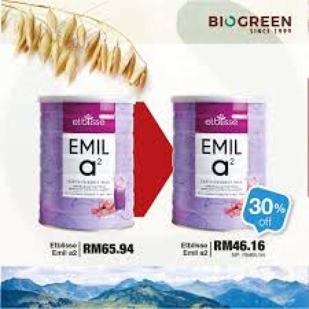 Etblisse Earth Friendly Milk EMIL a2 700G PWP EMIL a2 30% OFF (Pack of 2 Tins)