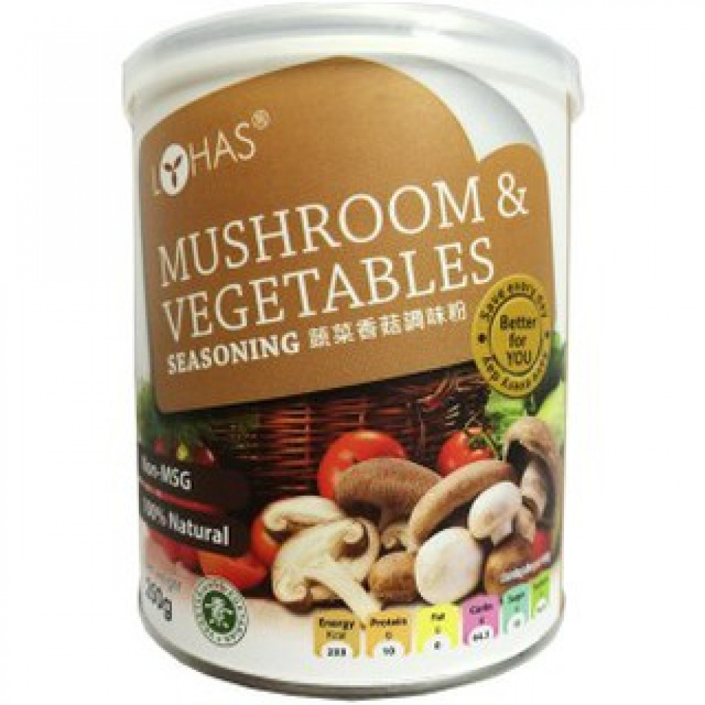 LOHAS MUSHROOM & VEGETABLES SEASONING 蔬菜香菇调味料粉 250G