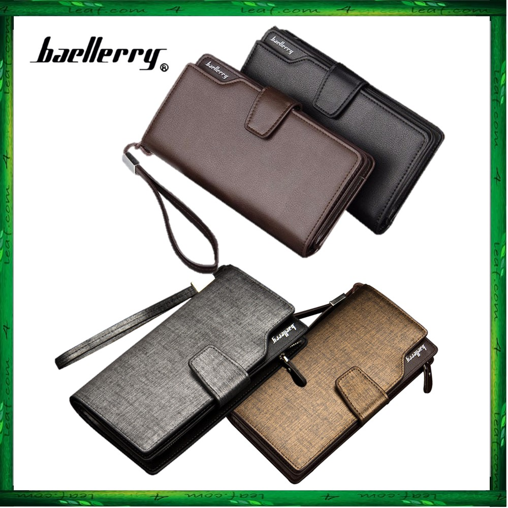 Baellerry S119B Handphone Men Women Wallet Long Purse Leather Bag