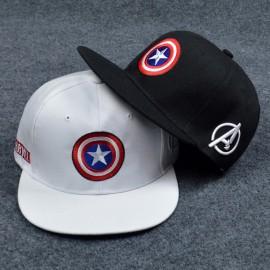 image of Captain America Snapback Cap Baseball Hat Marvel