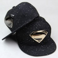 image of Superman Gold Silver Plated Snapback Cap Men Women