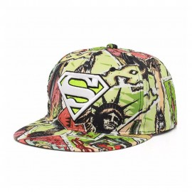 image of 4GL Superman Graffiti Embroidery Snapback Cap Topi