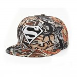 4GL Superman Graffiti Embroidery Snapback Cap Topi