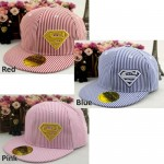 Superman Stripe Ladies Women Cap Snapback Hat
