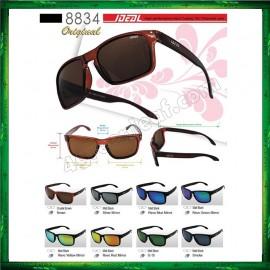image of Ideal 8834 Polarized Sunglasses ( Frame Matte Black ) Glasses Cermin Mata