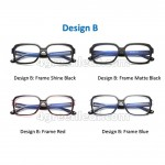 Computer Eye Strain Reduction Anti Blue Light Glasses Spectacles UV400 Design B