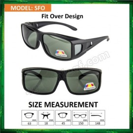 image of Polarized Fit Over Overlap Sunglasses (UV400) SFO Cermin Mata