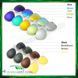 image of CS01 Clip On Polarized Sunglasses (Style Aviator 3026)