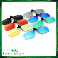 image of CS04 Square Shape Clip On Polarized Sunglasses