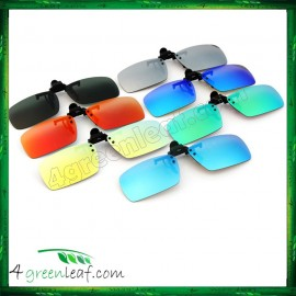 image of CS04 Square Shape Clip On Polarized Sunglasses