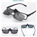 CS04 Square Shape Clip On Polarized Sunglasses