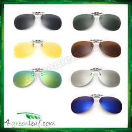 image of CS03 Aviator Clip On Polarized Sunglasses