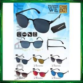 image of Work Eyewear Stainless Steel Otter 801 Screwless Light Polarized Sunglasses