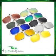 image of CS02 Square Aviator Frame Clip On Polarized Sunglasses