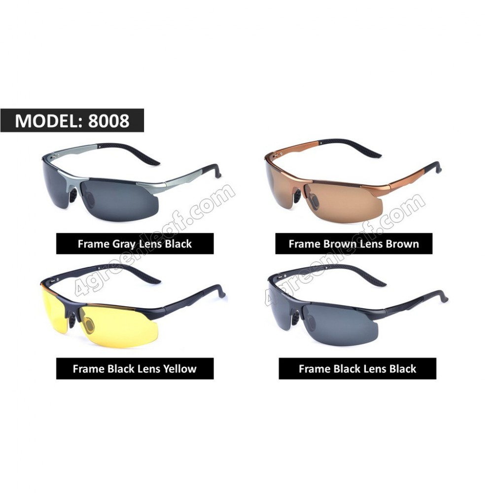 TR90 Light Weight Men Anti Glare Polarized Sunglasses