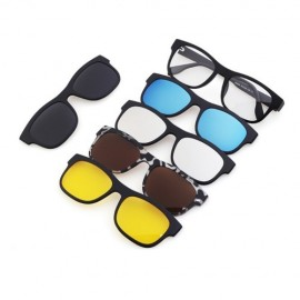image of 4GL Magnetic Clip On 6 in 1 Polarized UV Protection Sunglasses 2203A