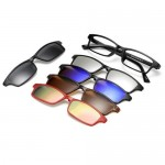 4GL Magnetic Clip On 6 in 1 Polarized UV Protection Sunglasses 2251A
