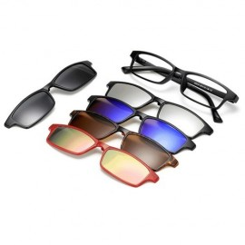 image of 4GL Magnetic Clip On 6 in 1 Polarized UV Protection Sunglasses 2251A