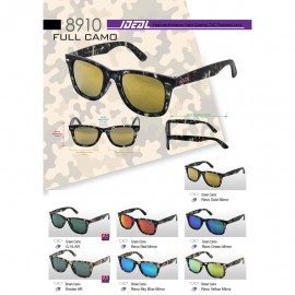 image of IDEAL 8910 Camo Polarized Sunglasses Cermin Mata Gelap