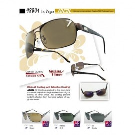 image of 4GL IDEAL Square Aviator 98801 Polarized Sunglasses Anti Reflective Coat