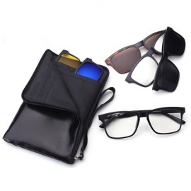 image of 4GL Magnetic Clip On 6 in 1 Polarized UV Protection Sunglasses 2245A