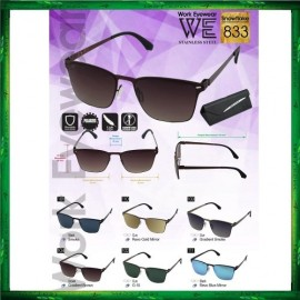image of Work Eyewear Stainless Steel Snowflake 833 Screwless Light Polarized Sunglasses