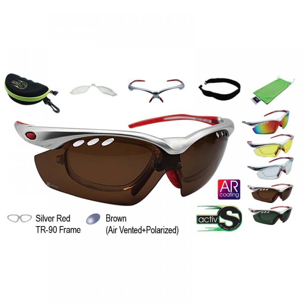 a75639d800 IDEAL ACTIV S 5 in 1 SPORT SUNGLASSES (TR-90 FRAME)
