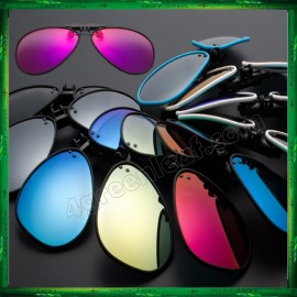 image of CS05 Twilight TR90 Lightweight Clip On Polarized Sunglasses