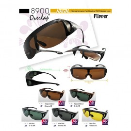 image of IDEAL 8900 FLIPPER FIT OVER OVERLAP POLARIZED SUNGLASSES
