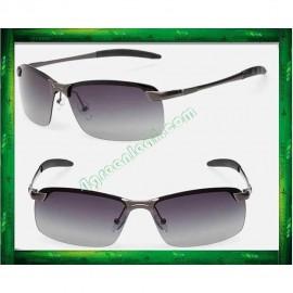 image of Stylish Anti Glare Aviator Polarized Sunglasses Lens Gradient Gray