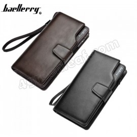 image of Baellerry S1063 23 Card Slots Men Women Long Wallet Leather Big Capacity