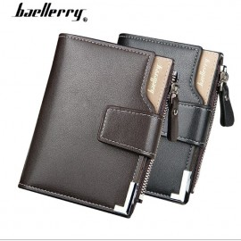 image of Baellerry Men Women Wallet Short Purse Leather D1282