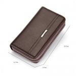 Baellerry Men Women Long Wallet Purse Leather Bag Big Capacity SA417
